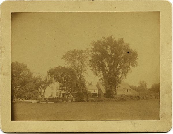 Asa's old farm home in Amherst, Mass., before any improvements, ca. 1885