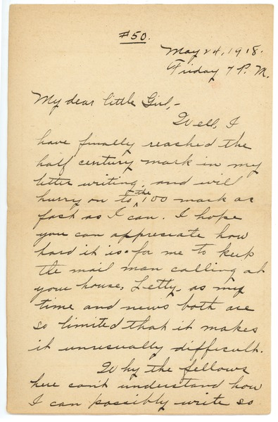 Letter from Frank F. Newth to Letitia Crane, May 14, 1918