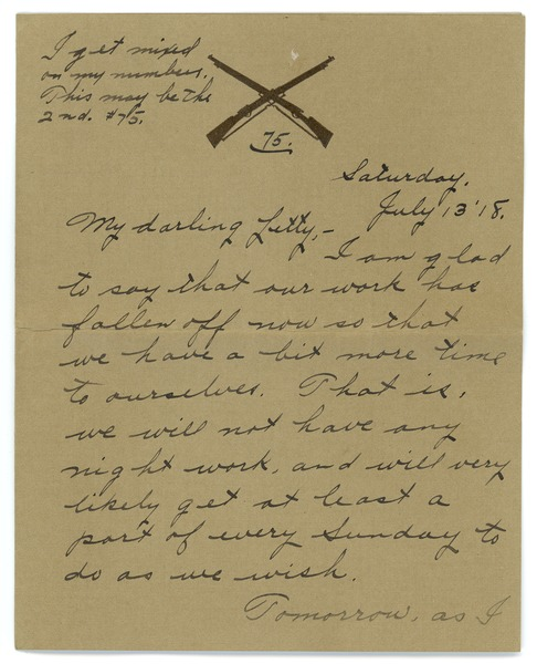 Letter from Frank F. Newth to Letitia Crane, July 13, 1918