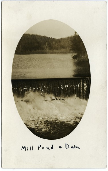 Mill pond and dam, ca. 1910
