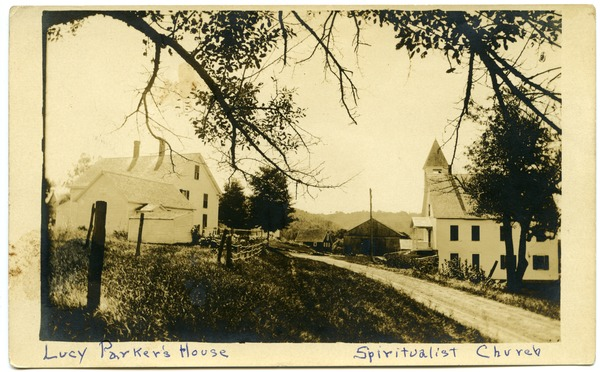 Lucy Parker's house, Spiritualist Church, ca. 1910