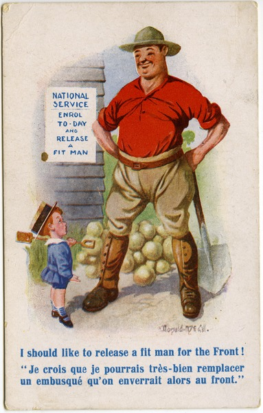 I should like to release a fit man for the Front!, ca. 1918
