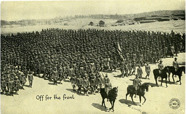 Off for the front, ca. 1918