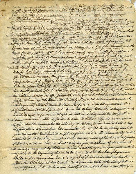 Letter from Benjamin Smith Lyman to J. Peter Lesley, January 10, 1864