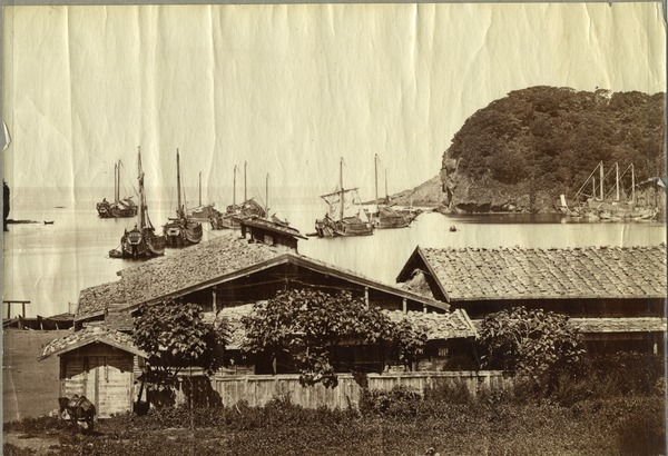 Japanese harbor, 1879?