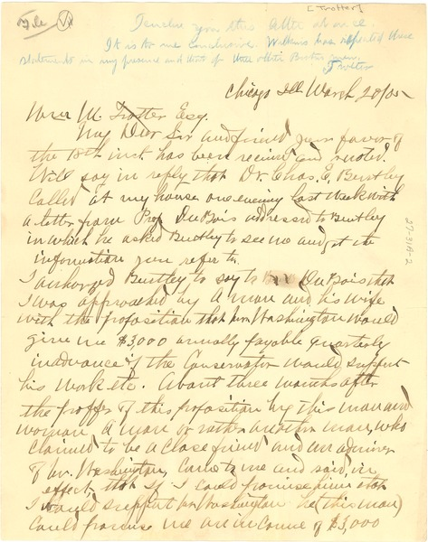 Letter from D. R. Wilkins to William Monroe Trotter, March 20, 1905