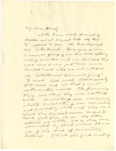 Letter from Eleanor Goldsmith to W. E. B. Du Bois, ca. June 25, 1925