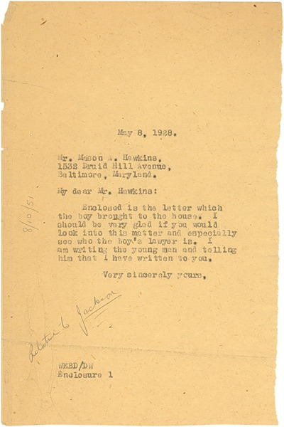 Letter from W. E. B. Du Bois to Mason A. Hawkins, May 8, 1928