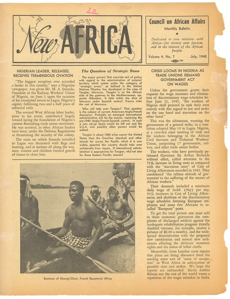 New Africa volume 4, number 7, July 1945