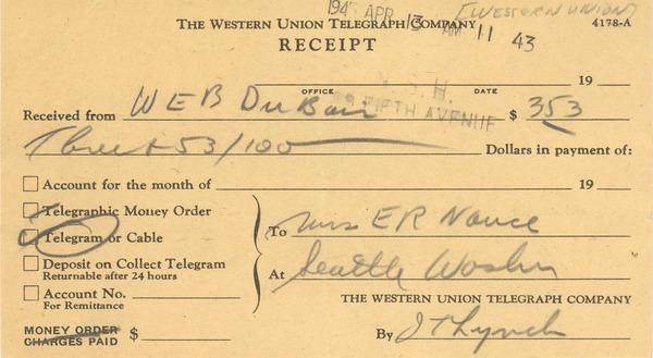 Western Union Payment Receipt