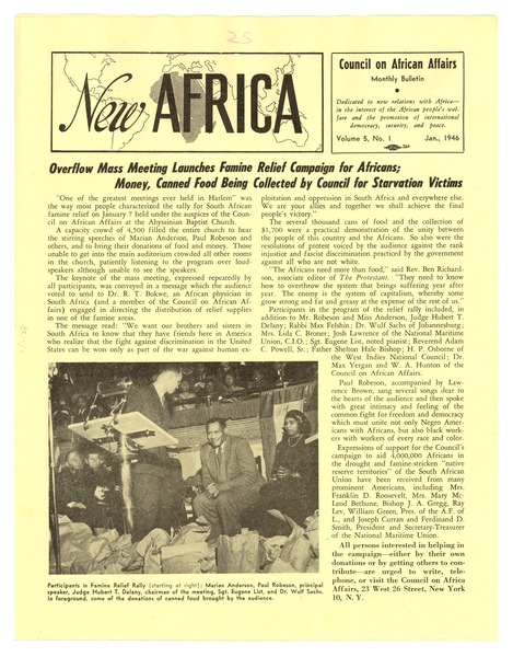 New Africa volume 5, number 1, January 1946