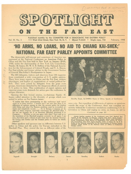 Spotlight on the far east, February 1948