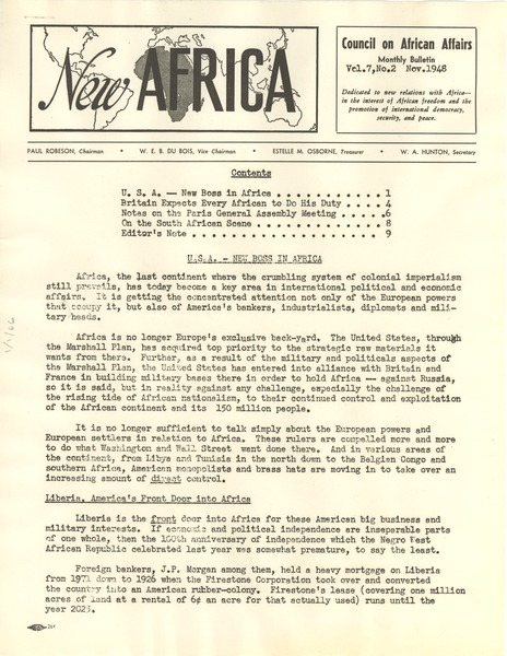 New Africa volume 7, number 2, November 1948