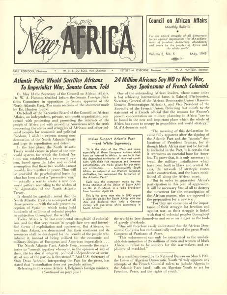 New Africa volume 8. number 5, May 1949