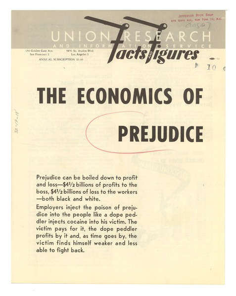 The  Economics of prejudice, February 1952