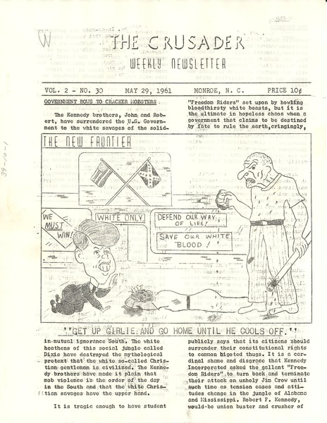 Crusader, volume 2, number 30, May 29, 1961