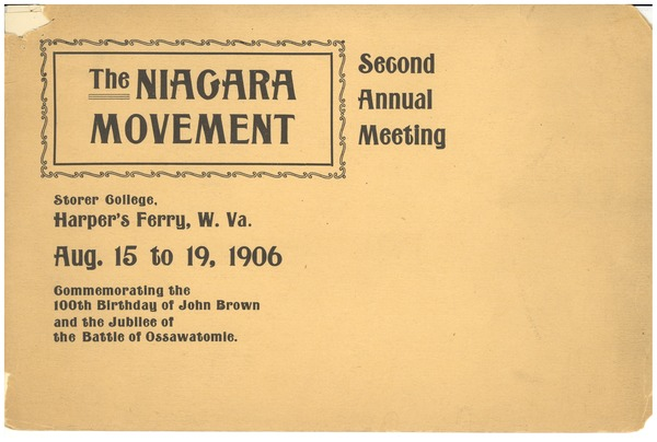 The  Niagara movement: Second annual meeting: , August 15, 1906