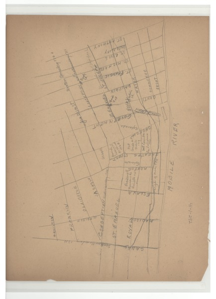 Map of Mobile, Alabama, ca. 1928