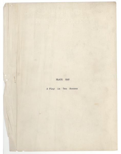 Black man: A play in ten scenes: , 1931