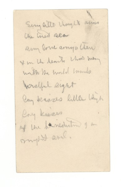 Notes on unidentified story, ca. 1906