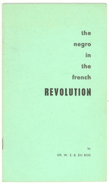 The  Negro in the French revolution, 1962