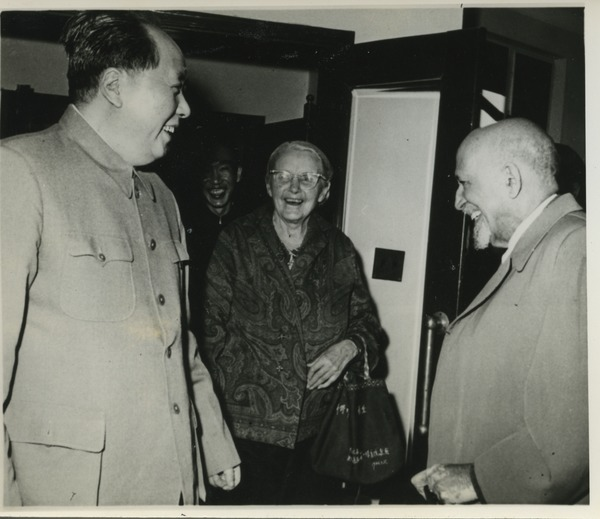 Mao Zedong, Anna Louise Strong, and W. E. B. Du Bois, ca. 1959