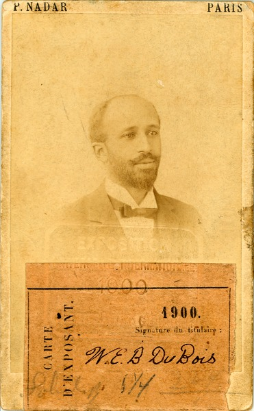 W. E. B. Du Bois, identification card for Exposition Universelle, 1900, 1900