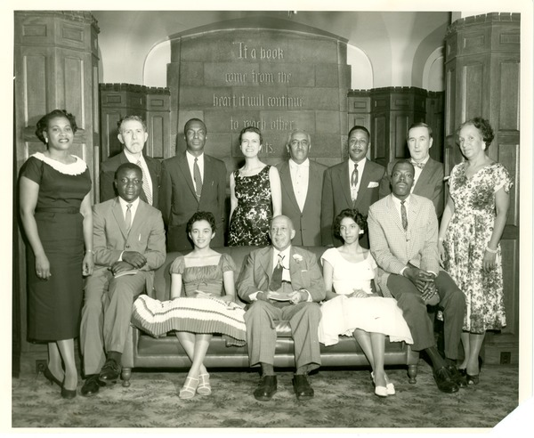 W. E. B. Du Bois and members of Phi Beta Kappa, Fisk University, 1958, 1958