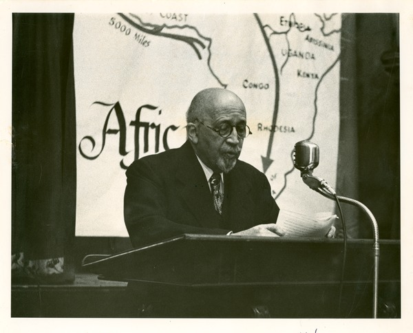 W. E. B. lecturing on Africa, 1956, 1956