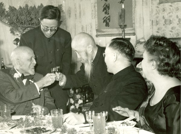 Chinese officials toast W. E. B. Du Bois on the celebration of his 91st birthday, February 23, 1959