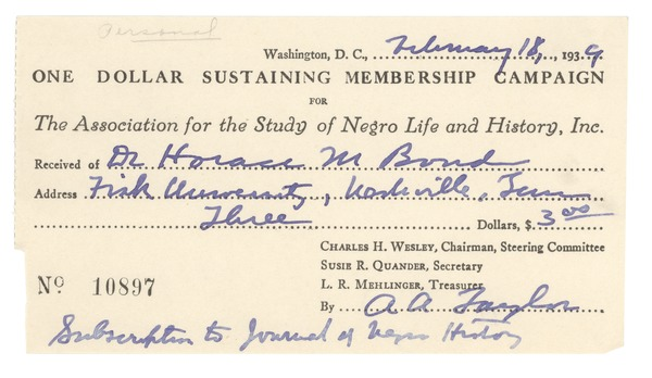 Association for the Study of Negro Life and History, 1939