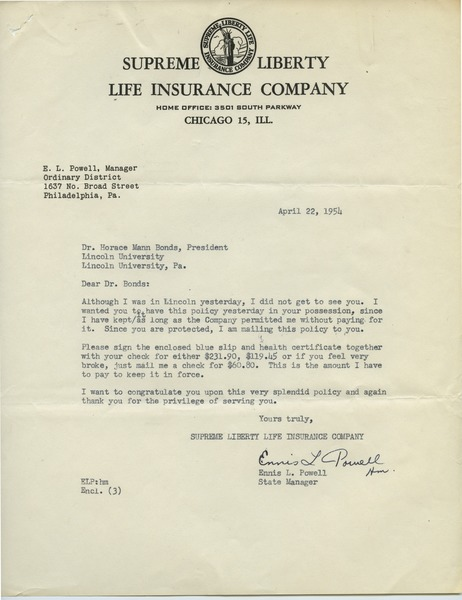 Supreme Liberty Life Insurance Company 19541957