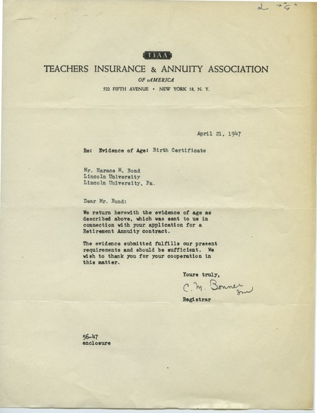 Teachers Insurance and Annuity Association, 1947–1972