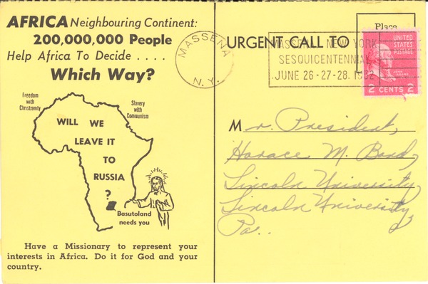 Africa, correspondence, March 3, 1952–June 30, 1952