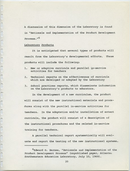 Southeastern Education Laboratory (SEL), September 15, 1969
