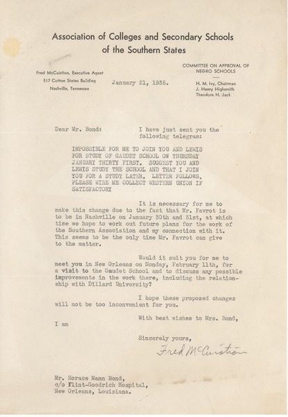 Correspondence, January 21, 1935–March 15, 1935