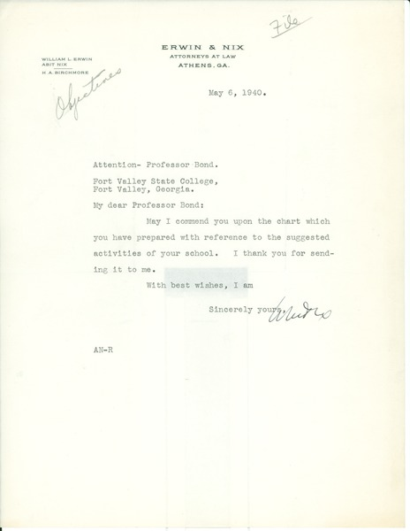 Correspondence, May 6, 1940–August 16, 1940