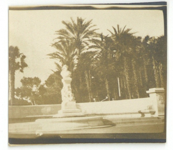 Fountain statue, March 1919