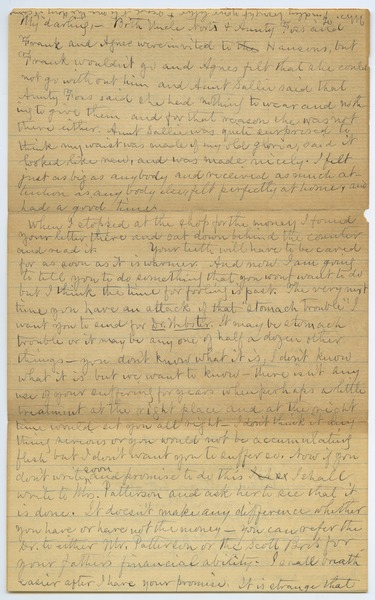Letter from Louisa Gass to Sadie Kessel, November 7, 1903