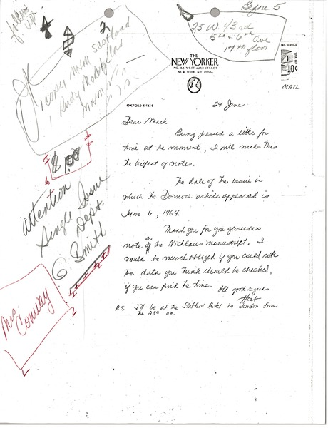 Letter from unidentified correspondent to Mark H. McCormack, June 24, 1968