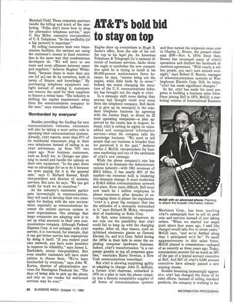 AT & T article, October 11, 1982