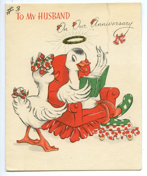 Anniversary Card from Edith Henry to Carl Henry, ca. December 1944