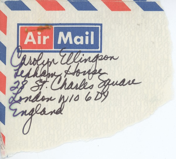Letter from Carolyn Ellingson to Judi Chamberlin, August 25, 1981