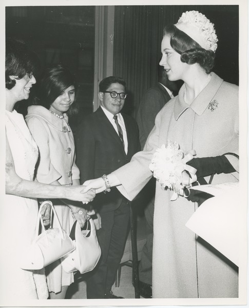 Princess Benedikte meeting clients, May 7, 1965