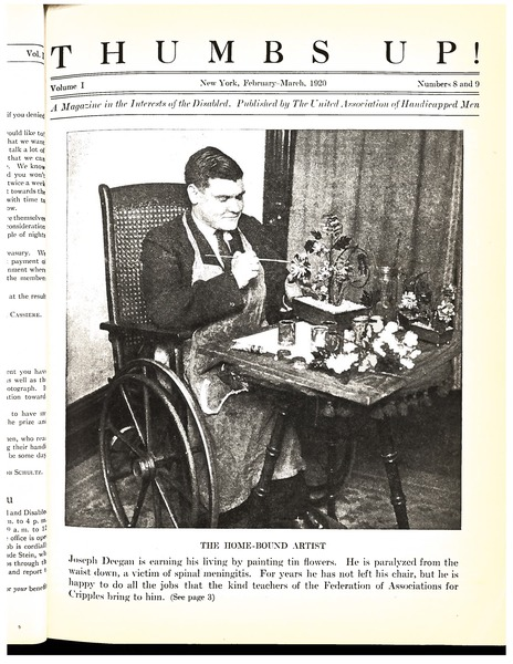 Thumbs up!: A magazine in the interests of the disabled: , March 1920