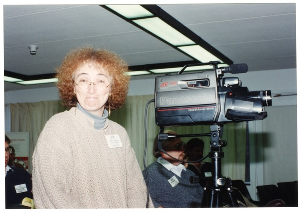 Low-input Sustainable Agriculture (LISA) seminar: Jeri Morgan videotaping a