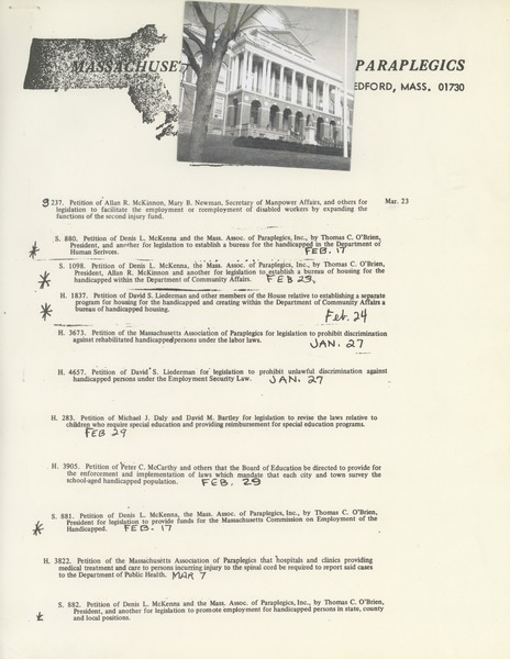 Priority bills, ca. 1970