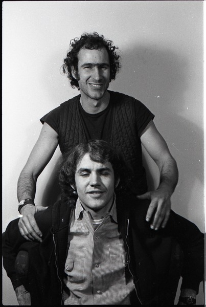 Richard Safft and Jeff Knight in the studio, ca. January 1973