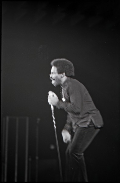 Richard Nader's Rock and Roll Revival concert at the Springfield Civic Center:             Lloyd Price, singing, December 26, 1972