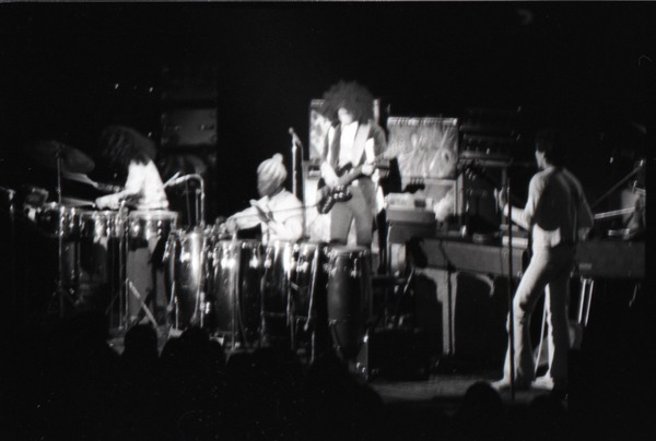 Santana concert at the Springfield Civic Center: band in performance, February 27, 1973